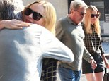 She's still Daddy's girl! Kate Bosworth wraps her father in a big bear hug after treating him to lunch