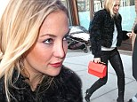 'I'm not planing a wedding anytime soon': Kate Hudson looks ravishing in faux fur before admitting she's following in mom Goldie Hawn's footsteps