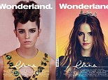 Top model: Emma graced two different covers for the February issue of Wonderland magazine