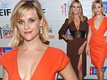 Reese Witherspoon and Heidi Klum take the plunge in cleavage baring dresses at Hollywood Stands Up To Cancer event
