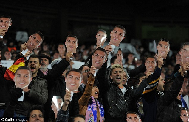 Main man: The Real Madrid crowd showed their support for Ronaldo during the win over Galatasaray
