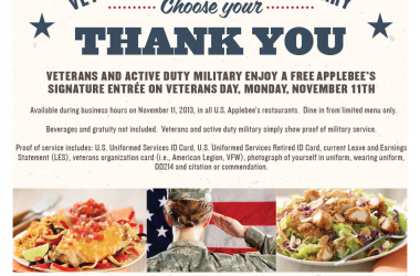 Veterans Day 2013 Freebies - 22 Free Items