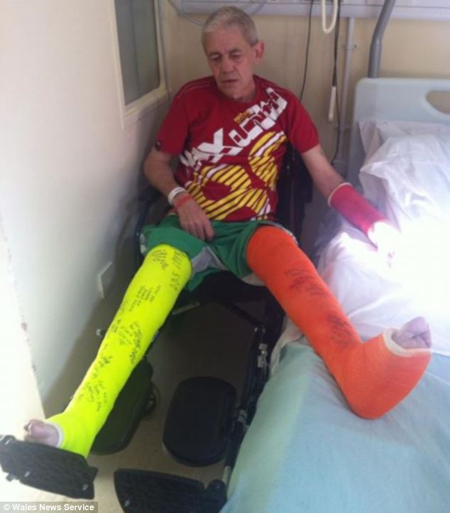 Thief Kevin Green, 52 who was injured after being caught red-handed in a night-time raid