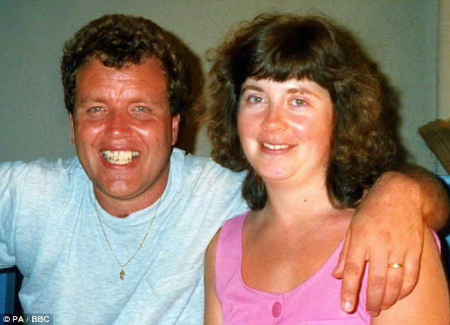 Angela Cannings (right) and husband Terry on holiday in the early nineties. Their daughter Jade has since said that she blames her mother for trying to estrange her from her father