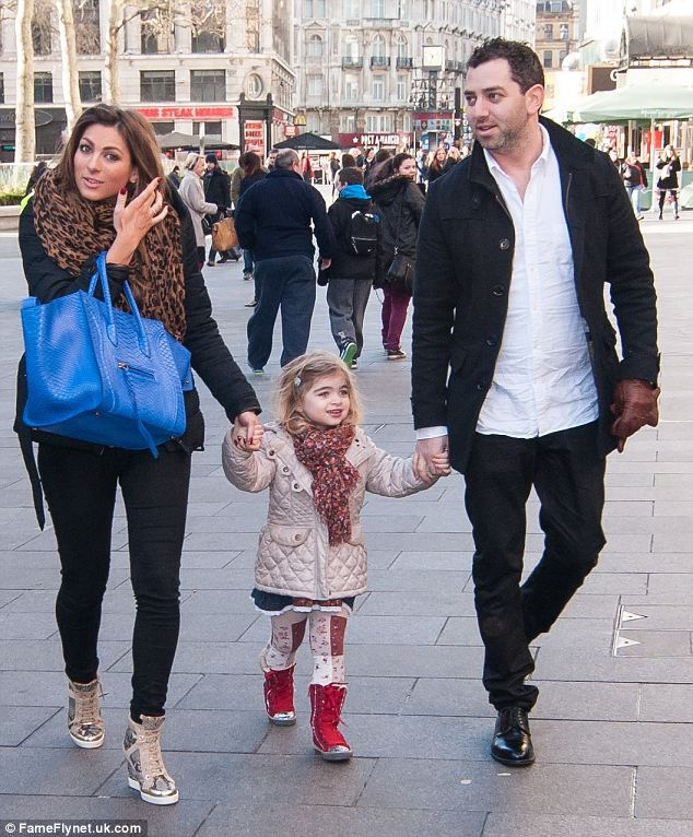 Fun day out: Luisa Zissman enjoys a movie screening with her daughter Dixie and her ex-husband Oliver Zissman