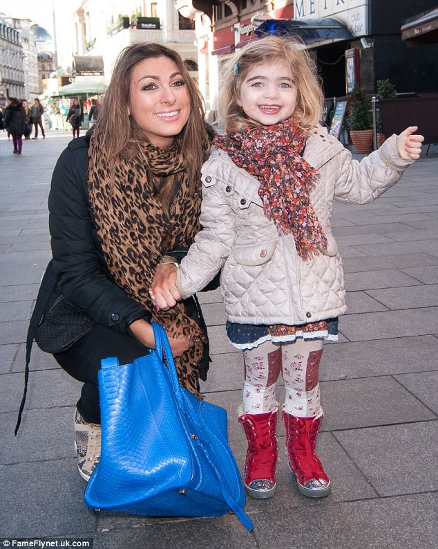Joy: Luisa's happiness was clear to see as she accompanied her beaming daughter