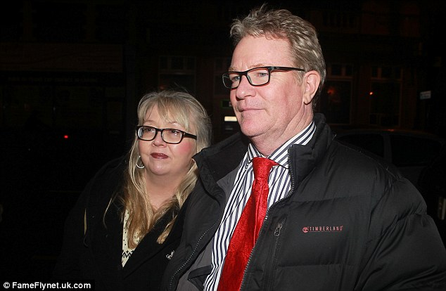 Meanwhile: Winner Jim Davidson pays a visit to Palace Theatre in Southend on Friday