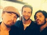 Lenny Kravitz shares selfie with Leonardo DiCaprio and Bradley Cooper at Joe's Pizza in NYC