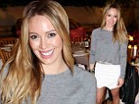 Radiant: Hilary Duff looked positively glowing at the launch of new health and wellness website How You Glow in West Hollywood on Friday