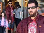 Twins! Adam Sandler shows his striking resemblance to his daughter Sadie as they left FrontRunners in Brentwood, California on Saturday