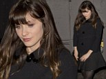 Nothing new for this girl! Zooey Deschanel shows of signature style in vintage outfit for night at vegetarian restaurant