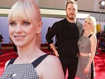 She's the star! Chris Pratt, left, let his wife Anna Faris, right, shine at the premiere of The Lego Movie in Los Angeles, California on Saturday