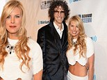 Now that's a great gift! Howard Stern's wife Beth Ostrosky flashes sexy toned tummy at his star-studded 60th birthday bash