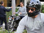 Oops: Alex Pettyfer is stopped by Beverly Hills Police after performing a U-turn on his motorbike
