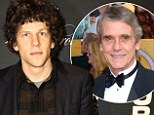 Jesse Eisenberg to play Superman's archenemy in Man Of Steel sequel as Jeremy Irons is cast as Batman's butler