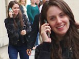 Bare-faced beauty! Mad Men's Alison Brie shows she doesn't need a scrap of make-up to amazing as she heads to TV appearance