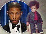 What happened to that afro? Pharrell Williams shows off big hair and chubby cheeks in ridiculously cute childhood photo