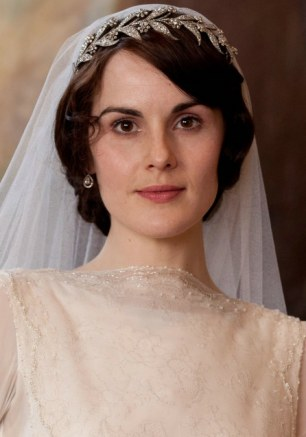Sparkling: Michelle Dockery wearing the tiara in Downton Abbey
