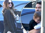 Ready to pop! A very pregnant Megan Fox spotted with husband Brian Austin Green and the couple's son Noah