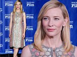 Glorious: Cate Blanchett shone in an exquisite dress at the Santa Barbara International Film Festival on Saturday