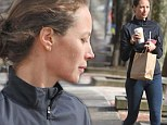 Incredible for 45! Makeup-free Christy Turlington shows off her fit frame after morning workout in the Hamptons