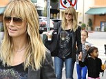 Brave face! Heidi Klum puts on a strong front for an outing with her children despite rumoured split from Martin Kristen... as cute Lou shows individual style flair