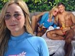 Real Housewife Marysol Patton, 47, frolics on Miami beach with former gay porn star Fredrik Eklund