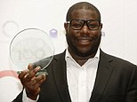 Good night: Director Steve McQueen's film 12 Years A Slave took home film of the year at the Critic' Circle Film Awards on Sunday evening