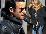 Still 3,000 miles apart! Justin Theroux steps out in NYC after fiancée Jennifer Aniston has fun night of partying in LA