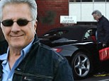 Still a boy at heart! Proud Dustin Hoffman, 76, shows off his sexy new Porsche convertible during an outing with wife Lisa