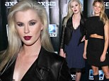 That's a bit obvious! Ireland Baldwin tries to steal the spotlight in lacy blue slip at model-studded DirecTV event with Erin Heatherton