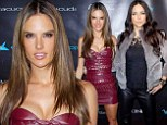Where Angels go! Alessandra Ambrosio dazzles in low-cut red dress with beautiful in black Adriana Lima at Leather & Laces party