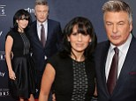 A class act! Alec and Hilaria Baldwin are a coordinated pair in black and blue at NFL Honors event in New York
