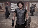 Brooding: Kit takes on the ultimate alpha male role in Pompeii