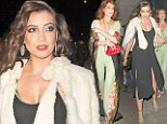 Party time: Daisy Lowe celebrates her 25th birthday with Florence Welsh