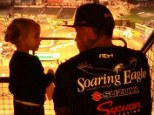 Following in her father's tracks! Pink shares sweet snaps of three-year-old Willow taking in motocross event with Carey Hart