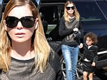 No dads allowed! Makeup free Ellen Pompeo and cute daughter Stella Luna enjoy a girls day out together