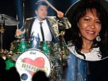 Bruno Mars pays loving tribute to his late mother Bernadette at Super Bowl by putting her name across a heart on his drum kit