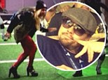 She's got the moves! Beyoncé strikes a pose on the pitch while Leonardo DiCaprio lives it up with pals... as stars enjoy the Super Bowl