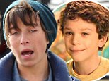 Spot the difference! Jake Cherry is replaced by look-alike actor Skyler Gisondo as Ben Stiller's son in Night At Museum 3