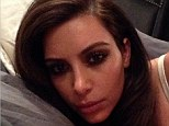 Not interested in the Super Bowl then! Kim Kardashian makes it all about her as she posts another selfie