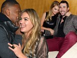 Newly single Kate Upton canoodles with rumoured beau Justin Verlander and Oscar winner Jamie Foxx at Super Bowl parties