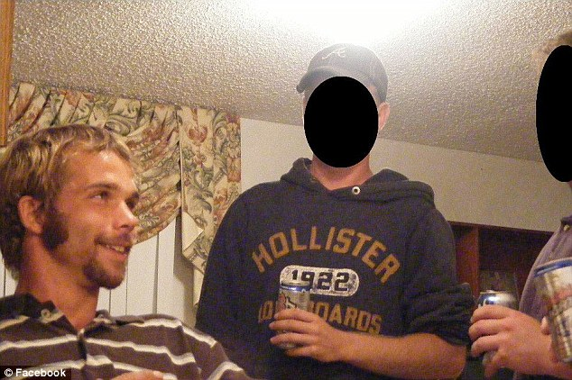 Wild: Pictures also show Jeremiah, left, surrounded by friends swigging from beer cans