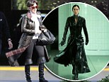 Channelling Trinity? Kris Jenner donned a sweeping black leather trench coat while out in Los Angeles on Tuesday, looking like she had just stepped off the set of The Matrix.