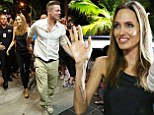 Angelina Jolie and Brad Pitt arrives at Shipwreck Bar & Grill in Airlie Beach, Queensland, Australia