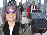 Back to work! On Tuesday, Kelly Osbourne was seen at London's Heathrow Airport, ready to fly back to Los Angeles