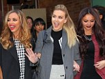 Hey girls: Little Mix look far from little as they stride out the Good Morning America studios on Tuesday