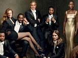 Dazzling: Newcomers and Tinseltown veterans grace the magazine's annual Hollywood three-page cover