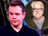 Damon, who starred with Hoffman in 1999's The Talented Mr Ripley, spoke of his shock at the actor's death during a TV appearance in New York on Tuesday.