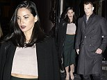 Olivia Munn shows off her midriff in cropped dusky pink top for night out with boyfriend Joel Kinnaman